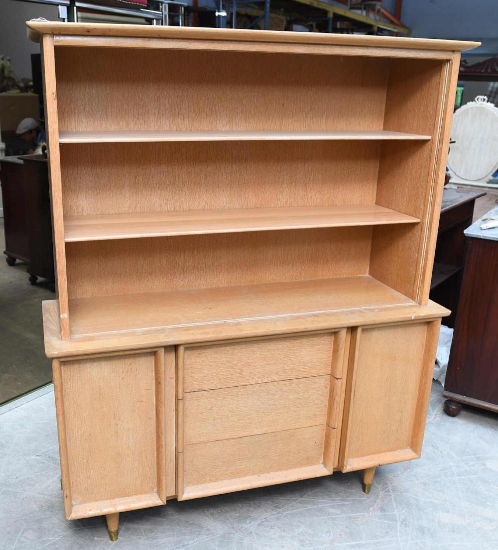 Blonde Oak Kitchen Cabinets: Robsjohn Gibbings Style Blonde Oak China Cabinet