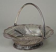 Nice George III sterling silver cake basket