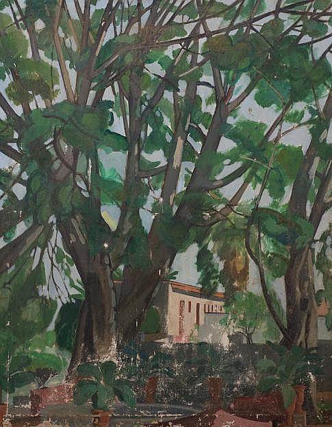 Painting by Peter Ruta (b. 1918, American)