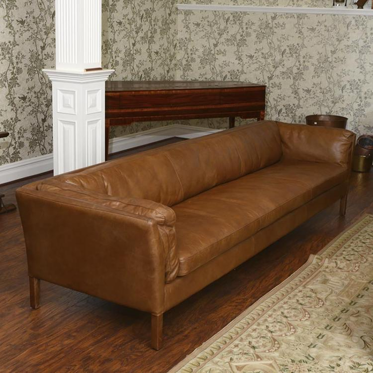Resoration Hardware Sorensen Leather Sofa