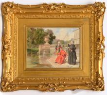 Bernard Louis Borione, painting