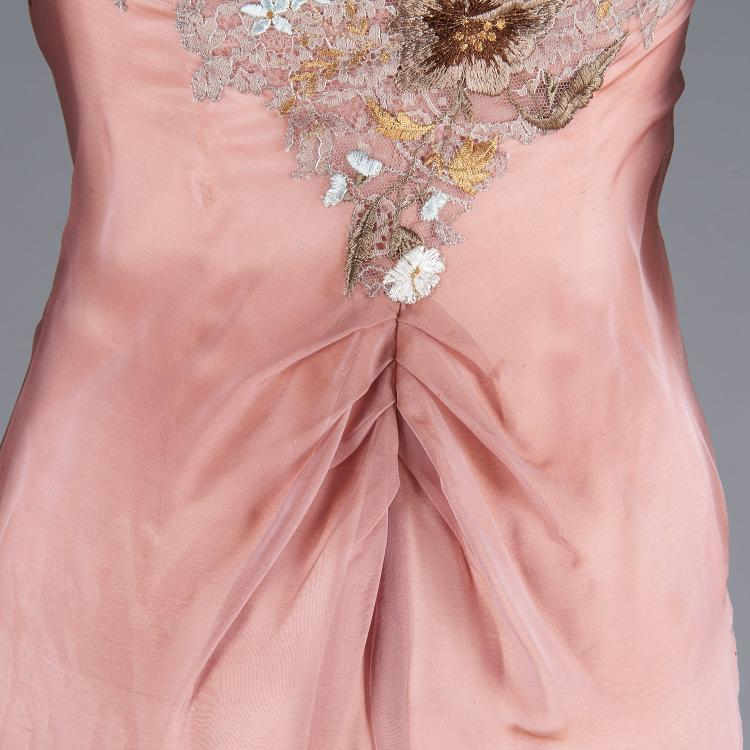 Richard tyler couture silk embroidered gown
