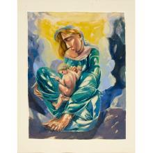 Moritz Melzer, color monotype, c. 1930