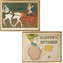 Edward Penfield, Pair of Harper's lithographs