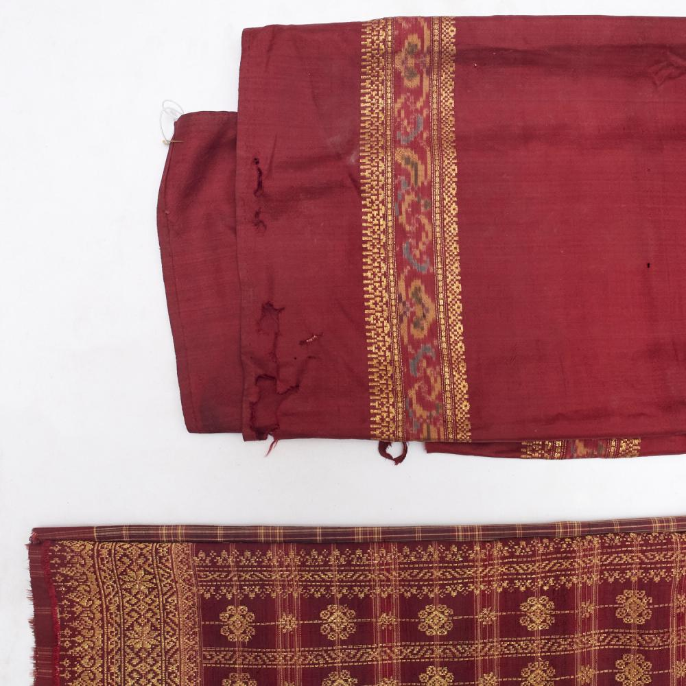 (5) Indonesian gold-embroidered textlies, Sumatra