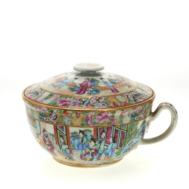 Chinese Export rose mandarin covered tureen