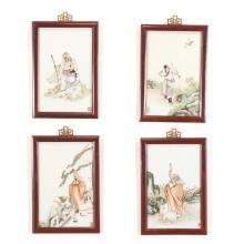 Set (4) Chinese porcelain plaques