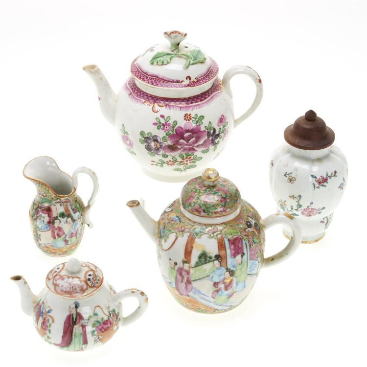 (5) pcs. Chinese famille rose porcelain