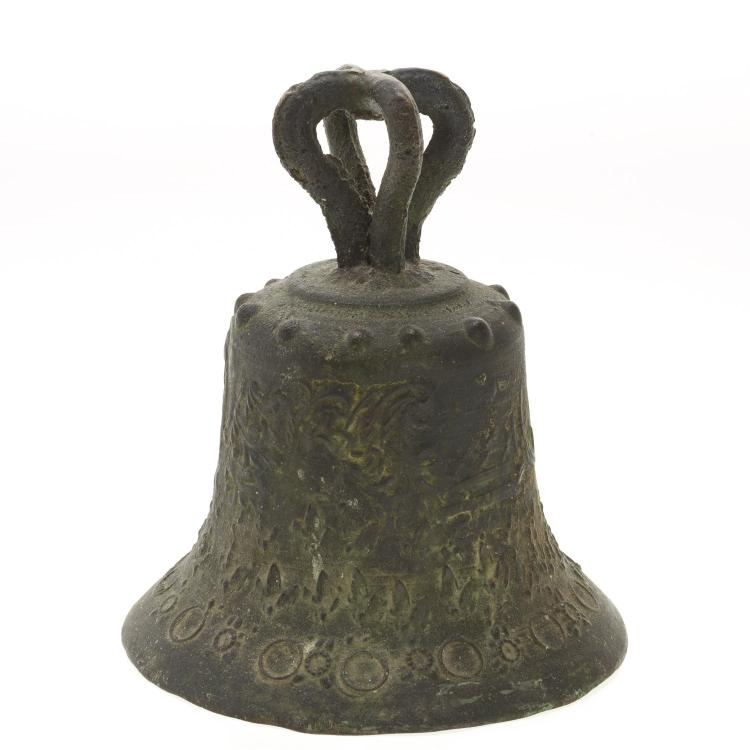 Antique Sino-Tibetan bronze temple bell