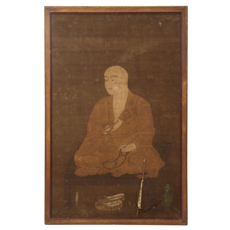 Antique Chinese Buddhist monk portrait