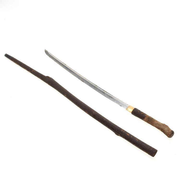 Antique Japanese signed wakizashi blade