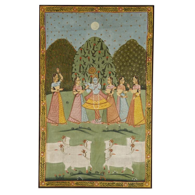 Indian School, large painting on cloth
