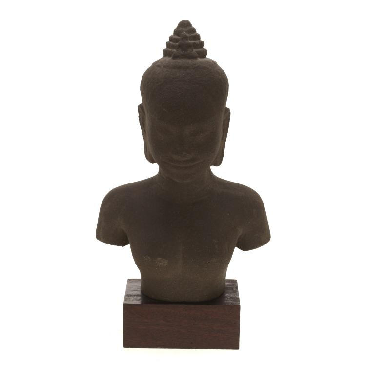 Antique Cambodian stone Buddha