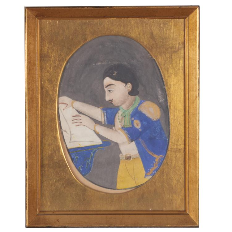 Persian School, portrait painting