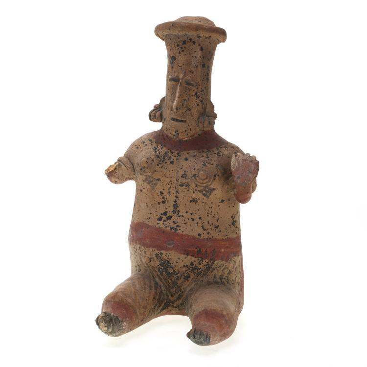 Nayarit style terra-cotta seated female figure