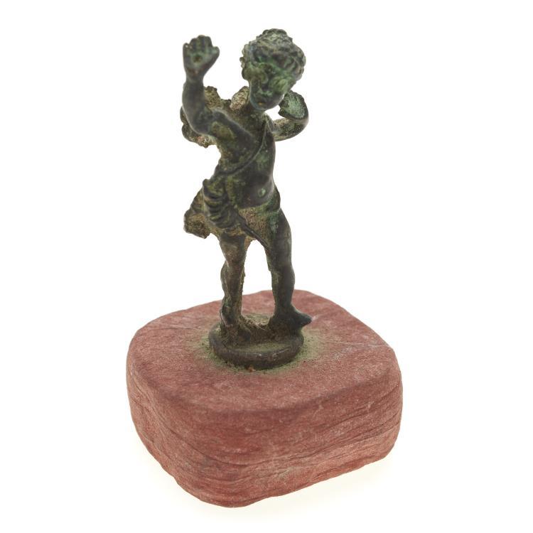 Antique miniature bronze figure of Eros