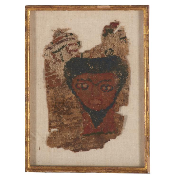 Egyptian Coptic tomb textile fragment