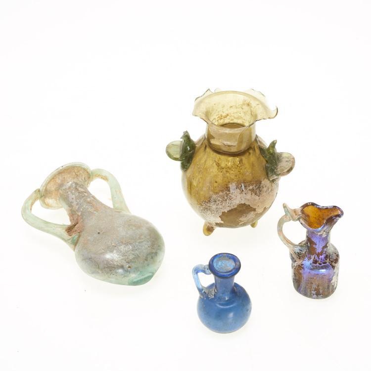 (4) Ancient Roman glass articles