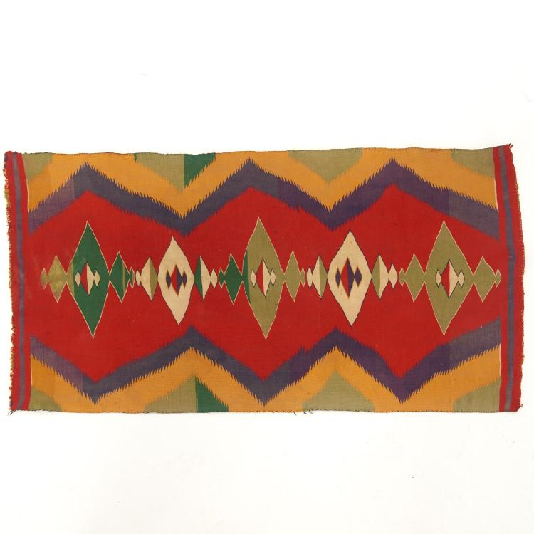 Navajo wool eye-dazzler rug or blanket
