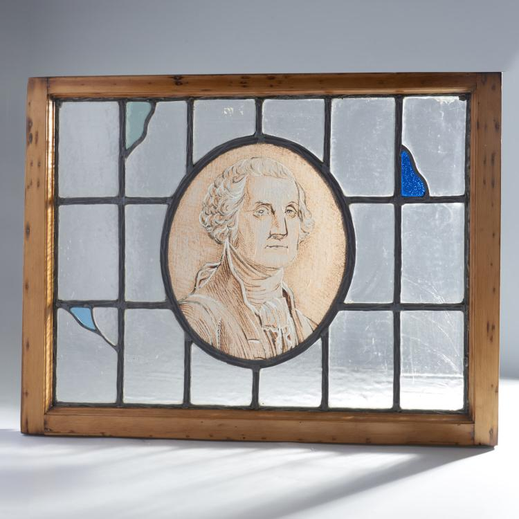 George Washington leaded, stained glass window
