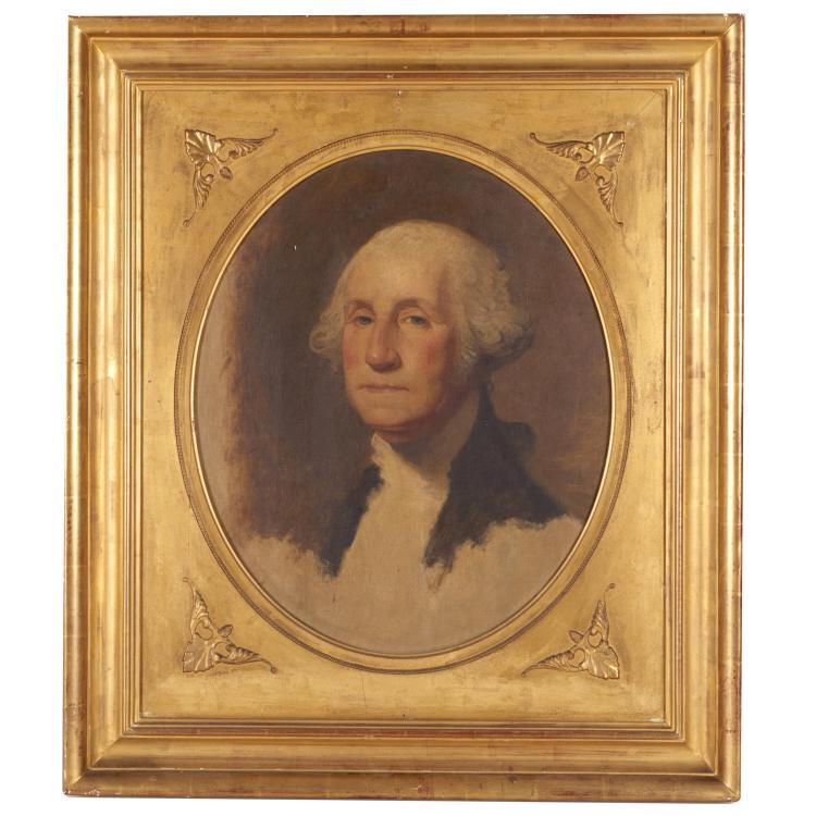 After Gilbert Stuart, portrait painting