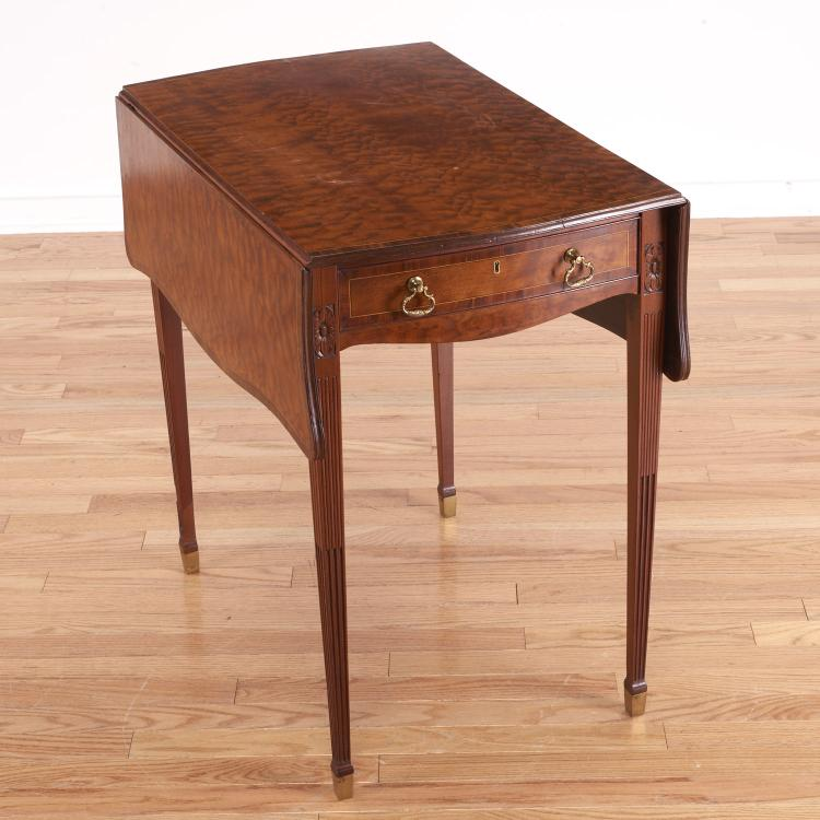 George III style inlaid pembroke table