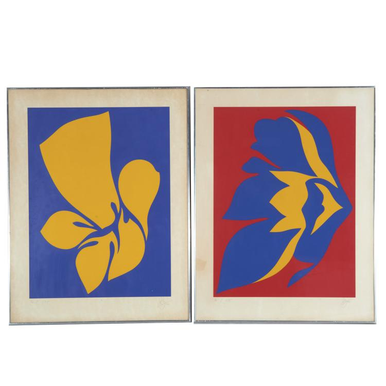Jack Youngerman, pair color lithographs