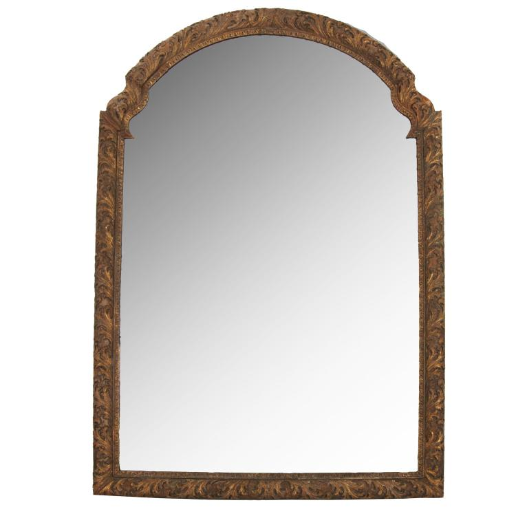 Impressive Louis XV giltwood wall mirror