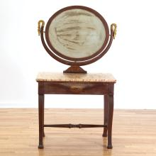 Empire marble top dressing table