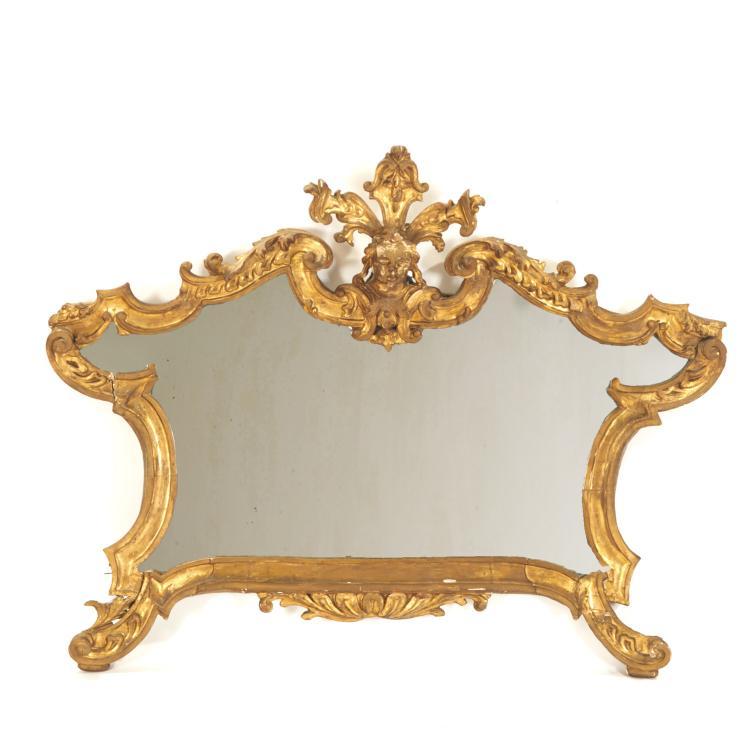 Italian Rococo giltwood wall mirror