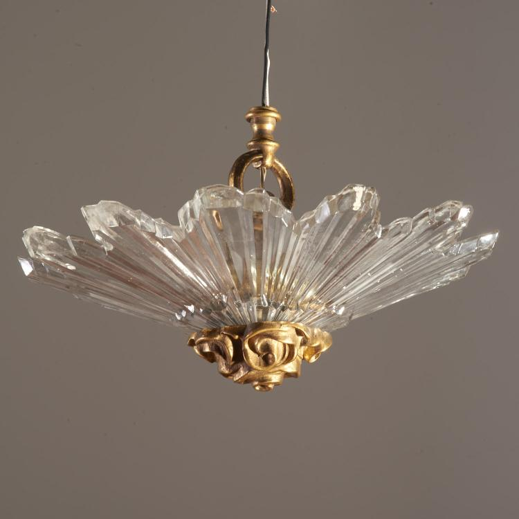 Louis XVI style bronze mounted sunburst chandelier