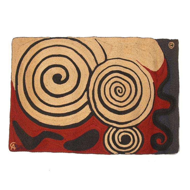 After Alexander Calder, jute tapestry