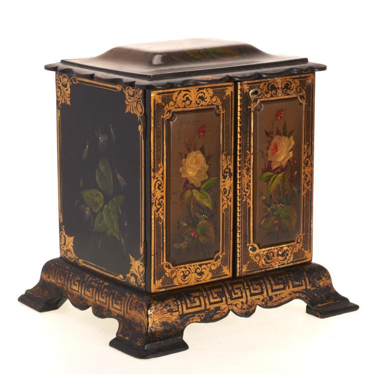 Victorian papier mache vanity chest