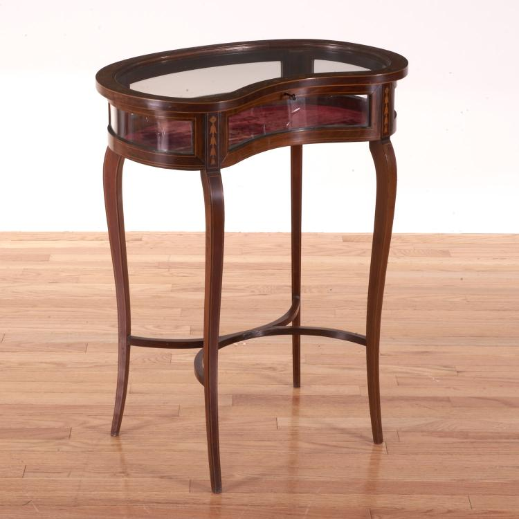 Edwardian mahogany inlaid bijouterie table