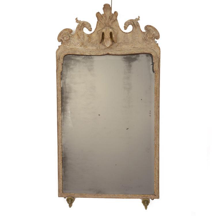 George II giltwood girandole pier mirror