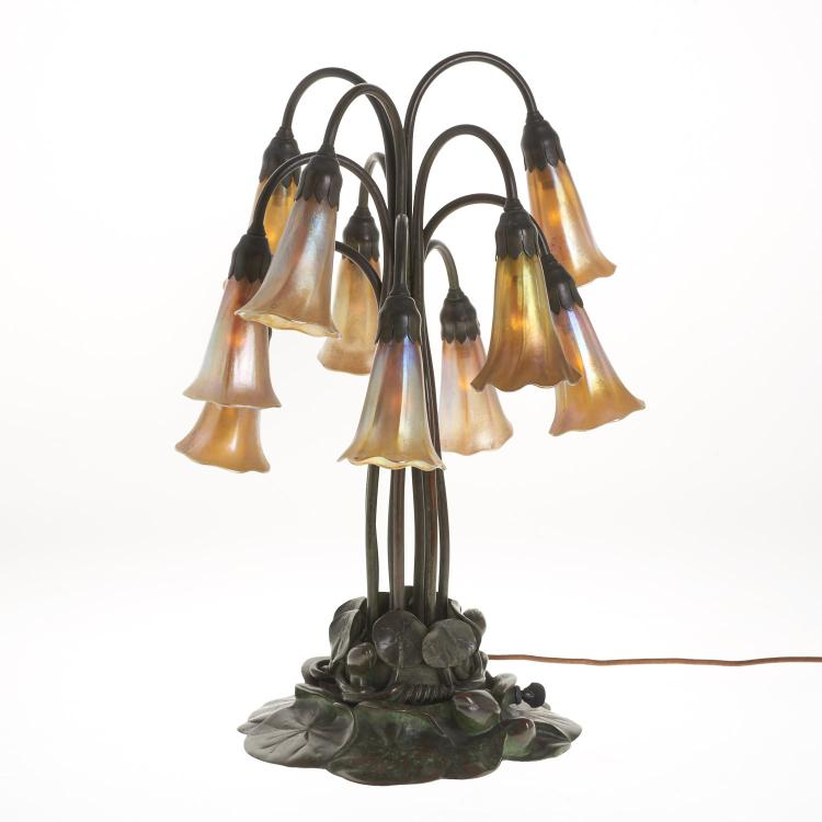 Tiffany Studios style ten-light