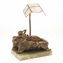 Carl Kauba, automation bronze desk lamp