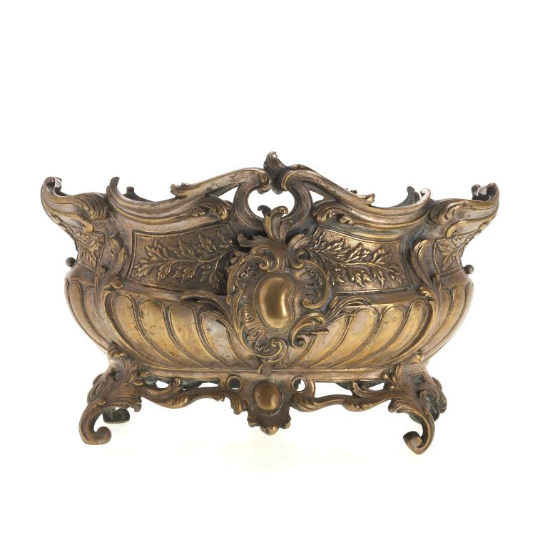 Louis XV style silvered bronze jardiniere