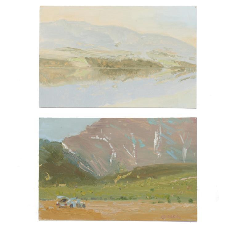 Terry Fenton, (2) paintings
