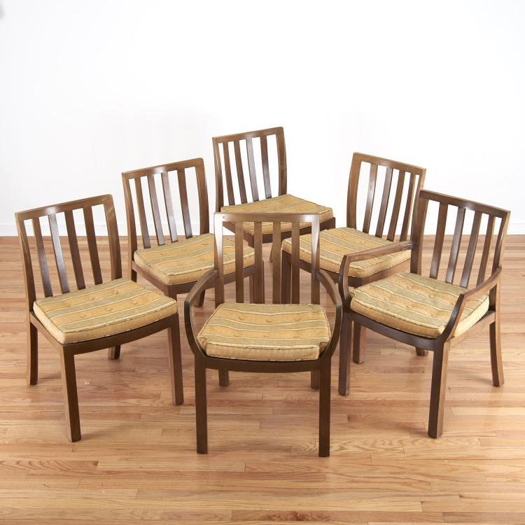 Set (6) Michael Taylor for Baker dining chairs