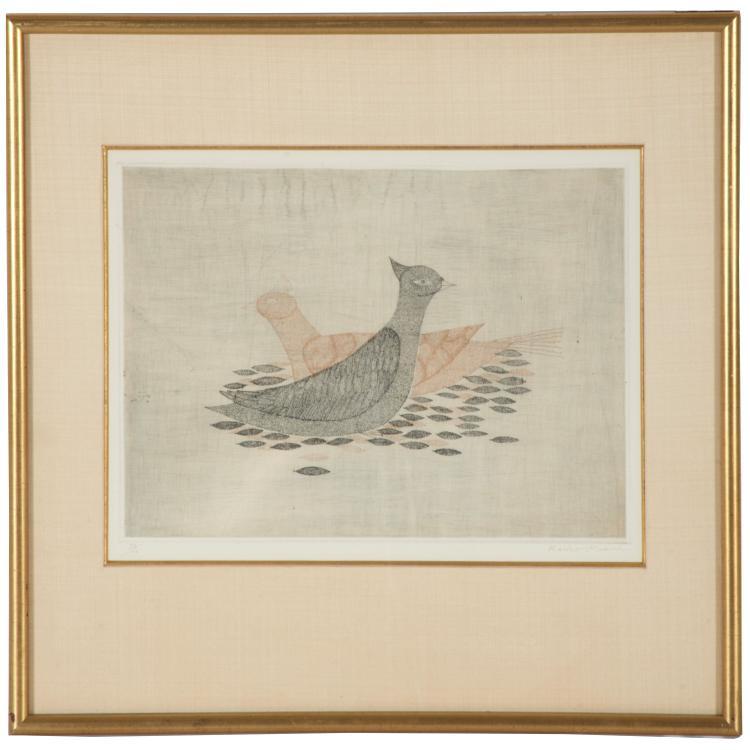 Keiko Minami, woodcut