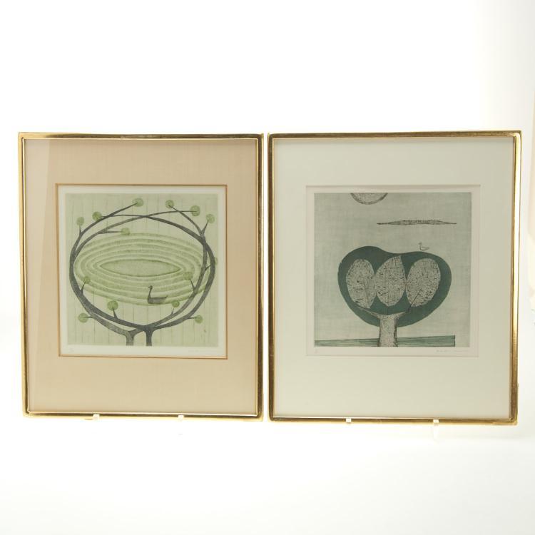 Keiko Minami, (2) color etchings