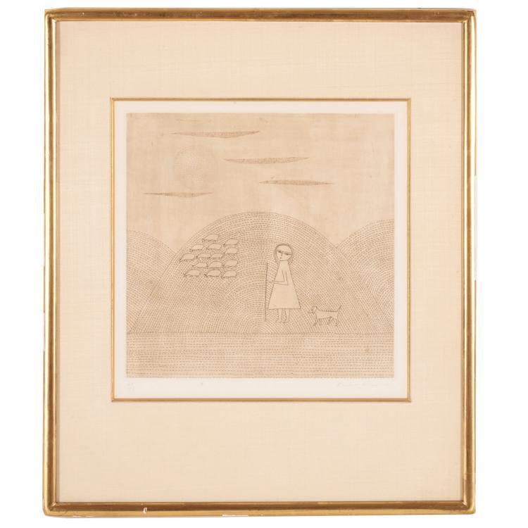 Keiko Minami, color etching