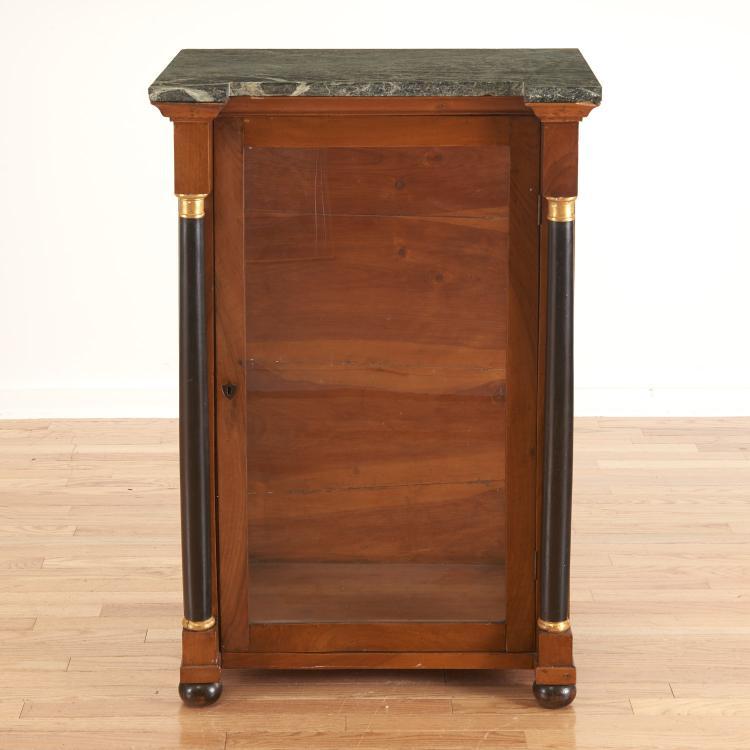Directoire style ebonized and walnut meuble dáppui