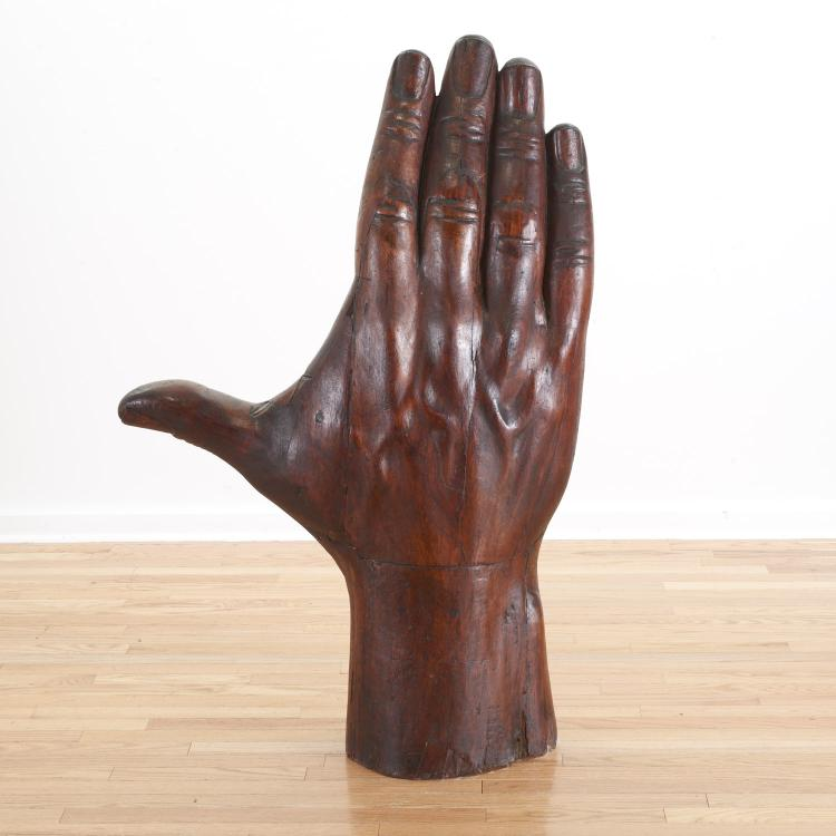 Manner Pedro Friedeberg, large hand sculpture