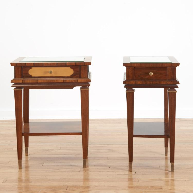 Manner Maxime Old near pair side tables