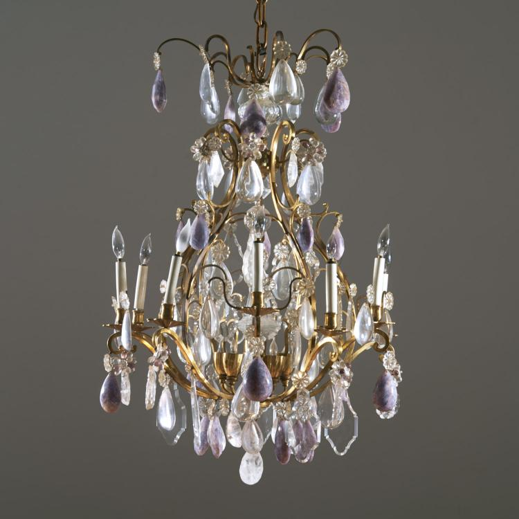Manner Bagues rock crystal and amethyst chandelier
