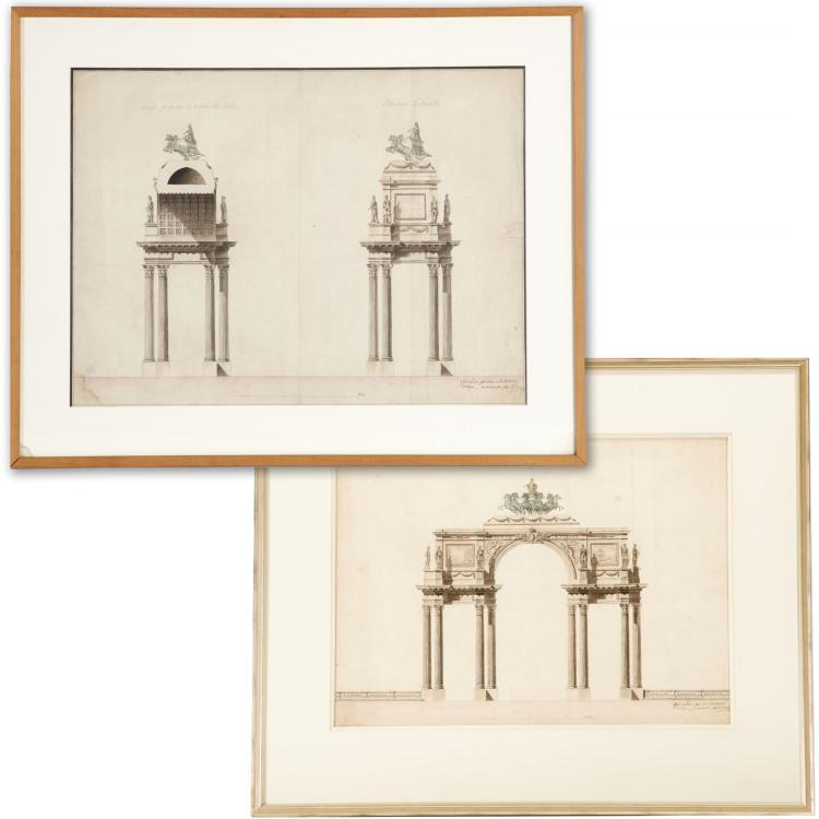 Victor Louis, (2) architectural renderings
