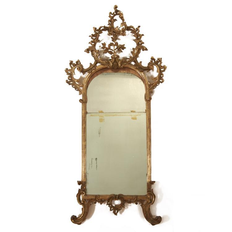 Italian Rococo giltwood pier mirror