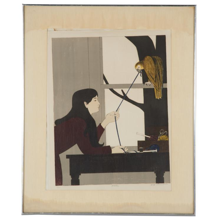 Will Barnet, signed color lithograph